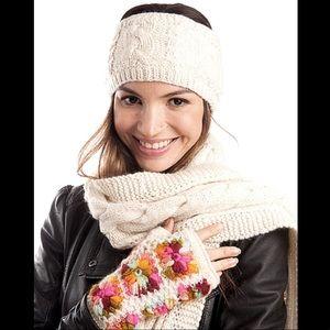 Free People Crochet Handwarmer Fingerless Gloves